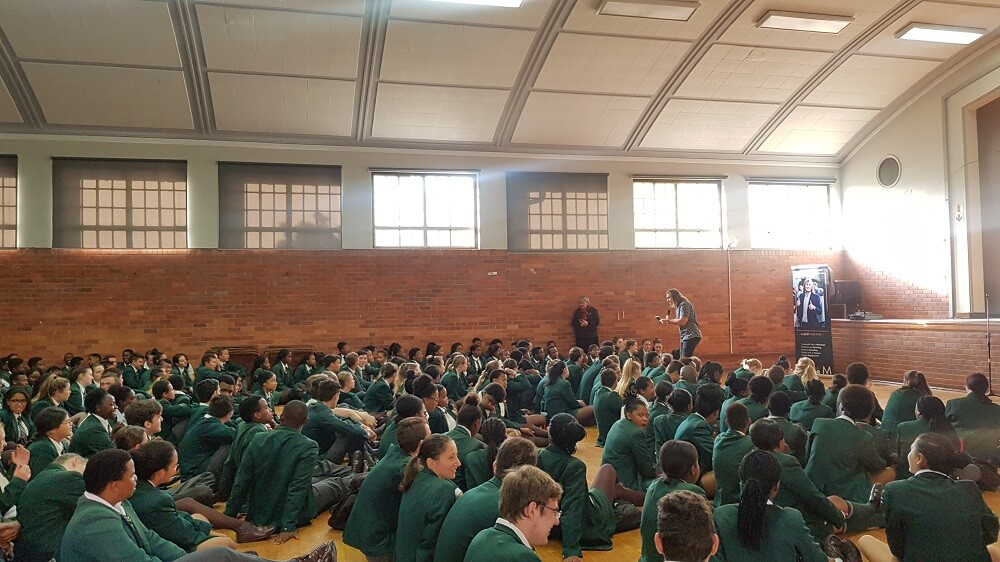 Albert van Wyk Millionaire in South Africa school talk